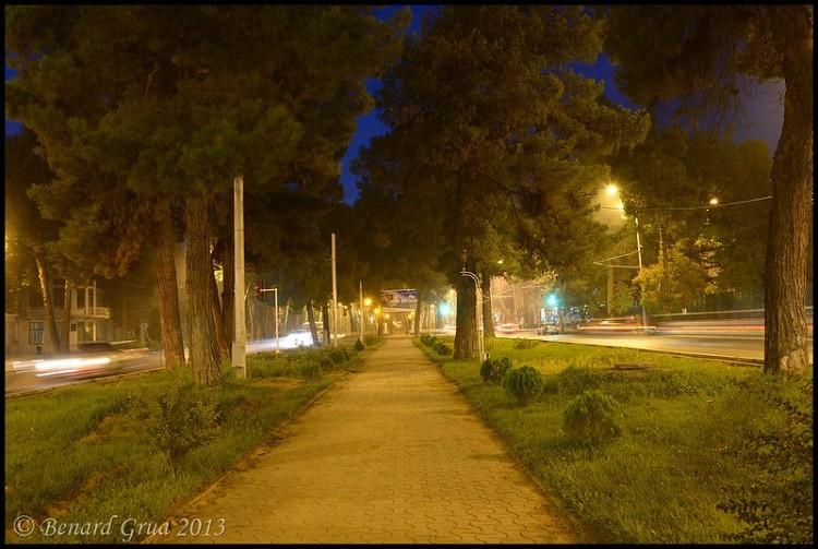 Bernard Grua, heure bleue, blue hour, Tadkistan, Douchanbé