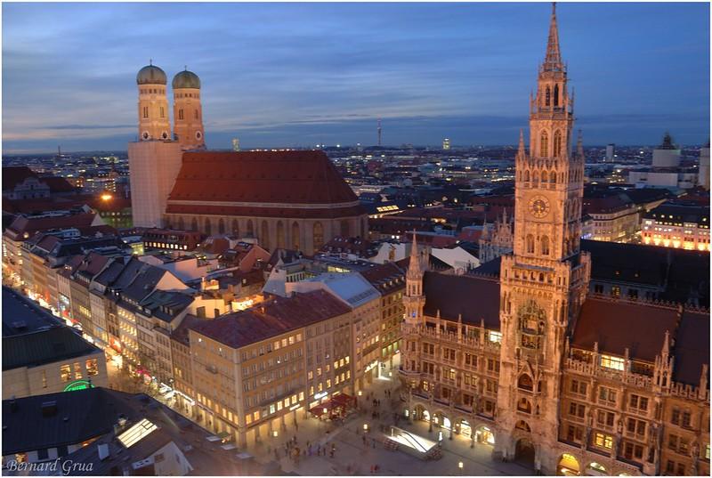 Bernard Grua, heure bleue, blue hour, Allemagne, Munich