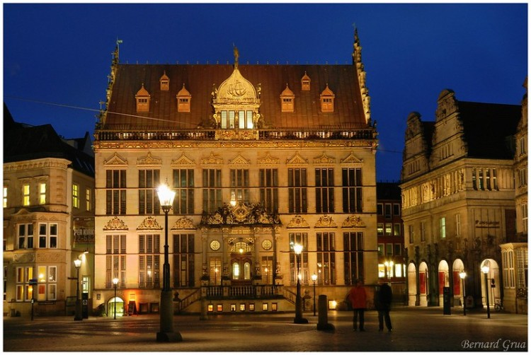 Bernard Grua, heure bleue, blue hour, Allemagne, Brème