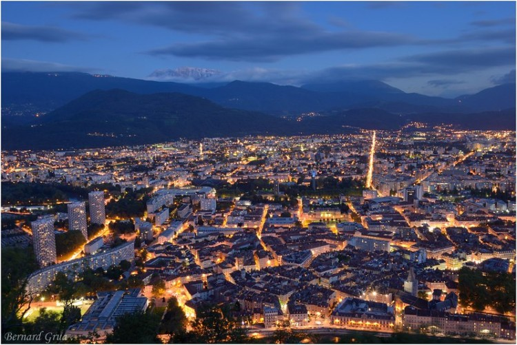 Bernard Grua, heure bleue, blue hour, Grenoble, France
