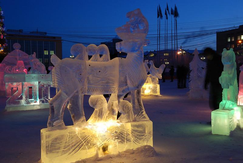 Bernard Grua, heure bleue, blue hour, Russie, Sibérie, Iakoutsk