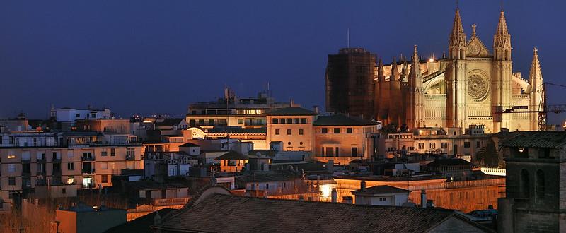 Bernard Grua, heure bleue, blue hour, Palma de mallorca, Baleares