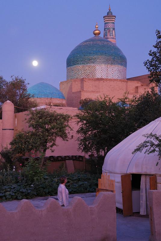 Bernard Grua, heure bleue, blue hour, Ouzbekistan, Khiva