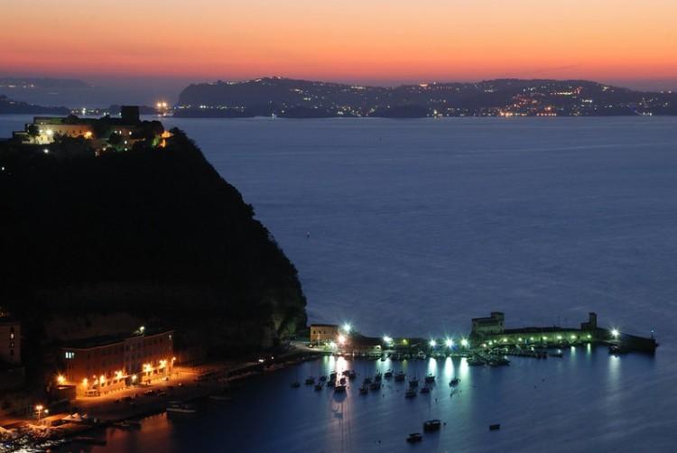 Bernard Grua, heure bleue, blue hour, Italie, Naples