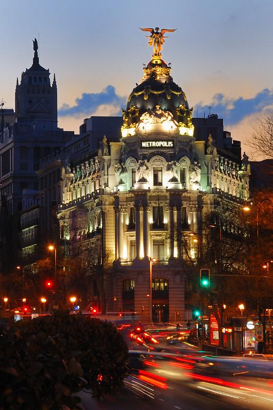 Bernard Grua, heure bleue, blue hour, Espagne, Madrid