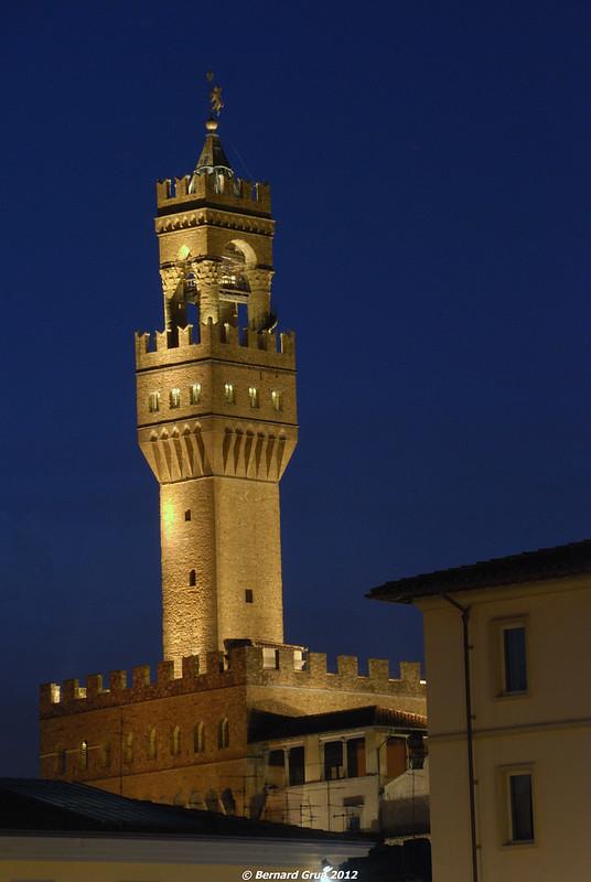 Bernard Grua, heure bleue, blue hour, Italie, Florence