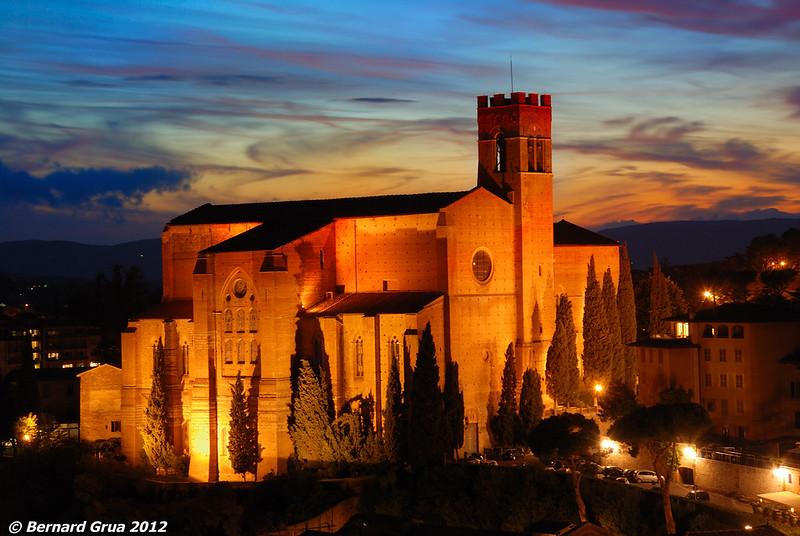 Bernard Grua, heure bleue, blue hour, Siena, Italie