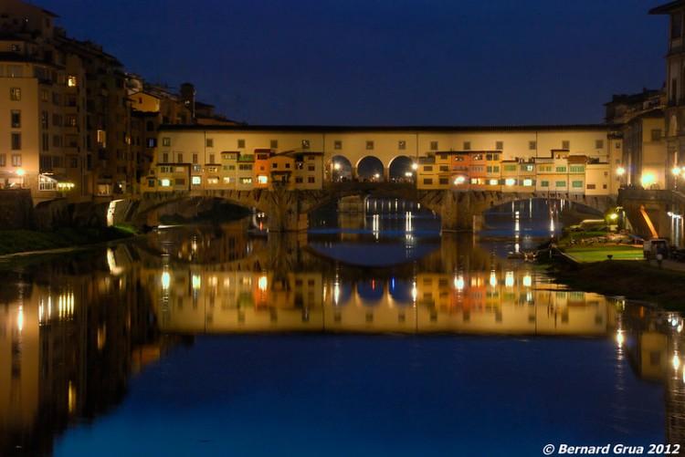 Bernard Grua, heure bleue, blue hour, Florence