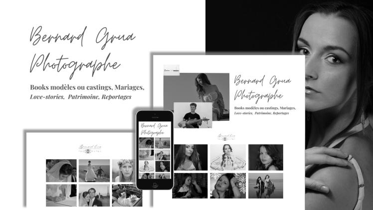 Bernard Grua photographe, réalisation de books comédiens et modèles, photographie de mariages, engagements, fiançailles, patrimoine, reportages.