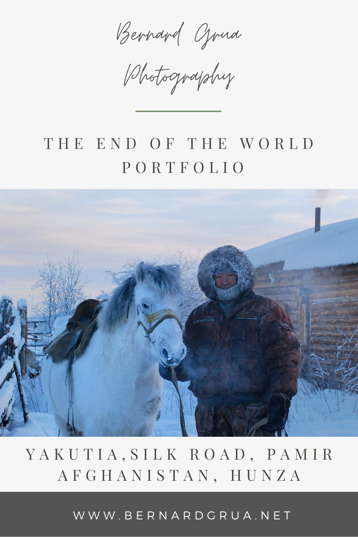 Bernard Grua photographie: portraits du bout du monde: Iakouts de Sibérie, Tsiganes et Aksakals d'Ouzbekistan, Pamiris et Kirghizes du Tadjikistan, Wakhis d'Afghanistan et du Pakistan.