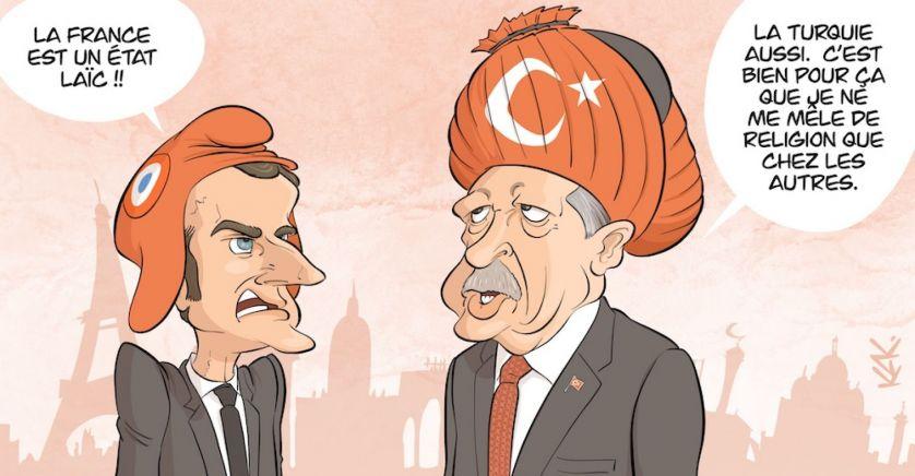 Erdogan macron, Islamisme, Tunisie, Zine El Abidine Belhareth, association Tourathna جمعية تراثنا