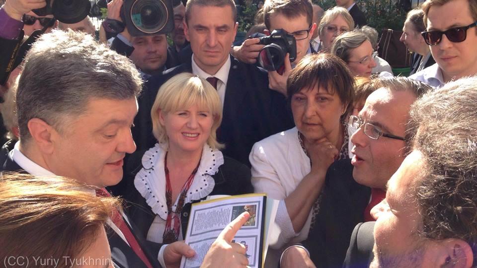 Bernard Grua avec le Président Petro Poroshenko