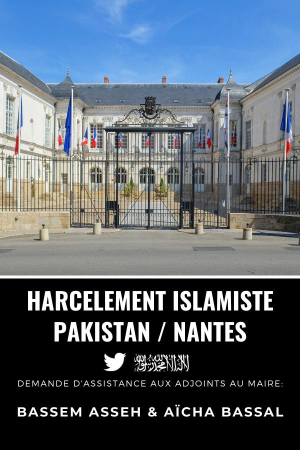 Municipalité de Nantes, harcèlement islamiste de Ramla Akhtar, Pakistan, Bassem Asseh et Aïcha Bassal