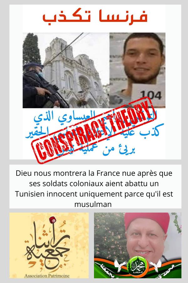 Zine El Abidine Belhareth, Tourathna, Nice complotisme