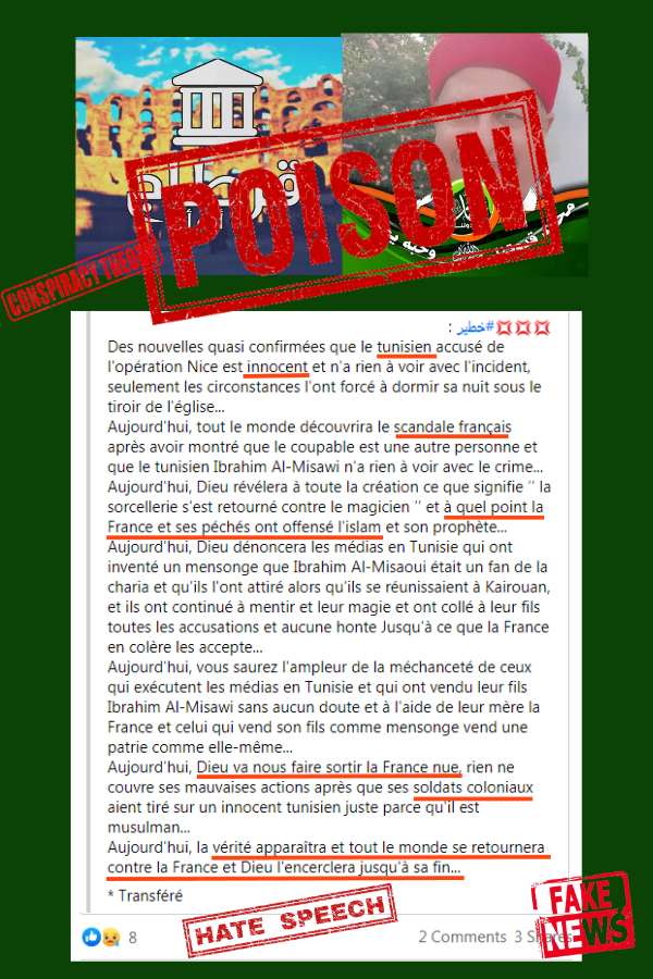 Zine El Abidine Belhareth, Association Tourathna, Tunis, Islamo-Fascism, Poison Fr