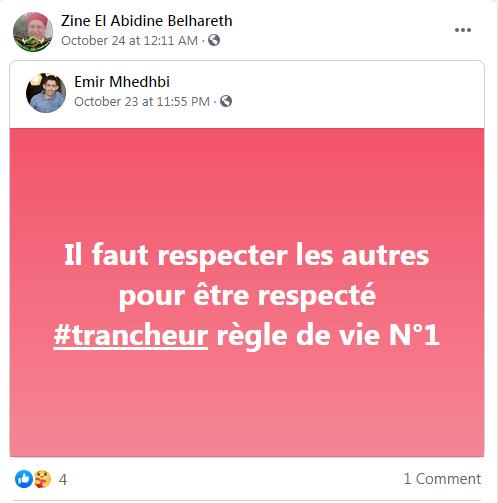 Zine El Abidine Belhareth Respect #Trancheur جمعية تراثنا