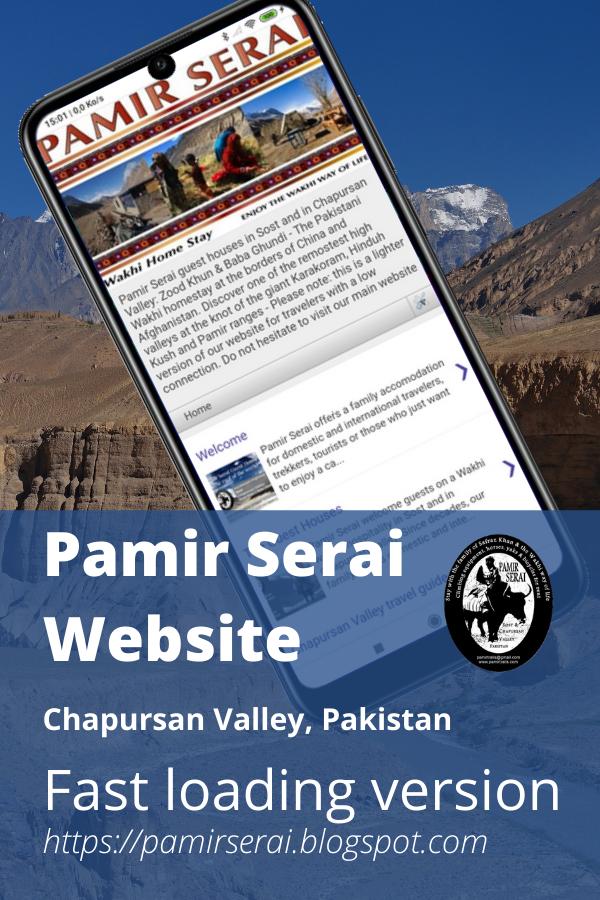 PamirSerai guest houses, Chapursan Valley, Zood Khun, Zuwud Khoon, Alam Jan Dario. Pin