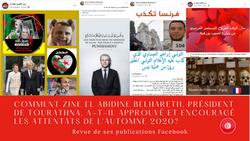 Comment Zine El Abidine Belhareth زين العابدين بلحارث, président de l' association جمعية تراثنا Tourathna, a-t-il approuvé et encouragé les attentats de l'automne 2020?