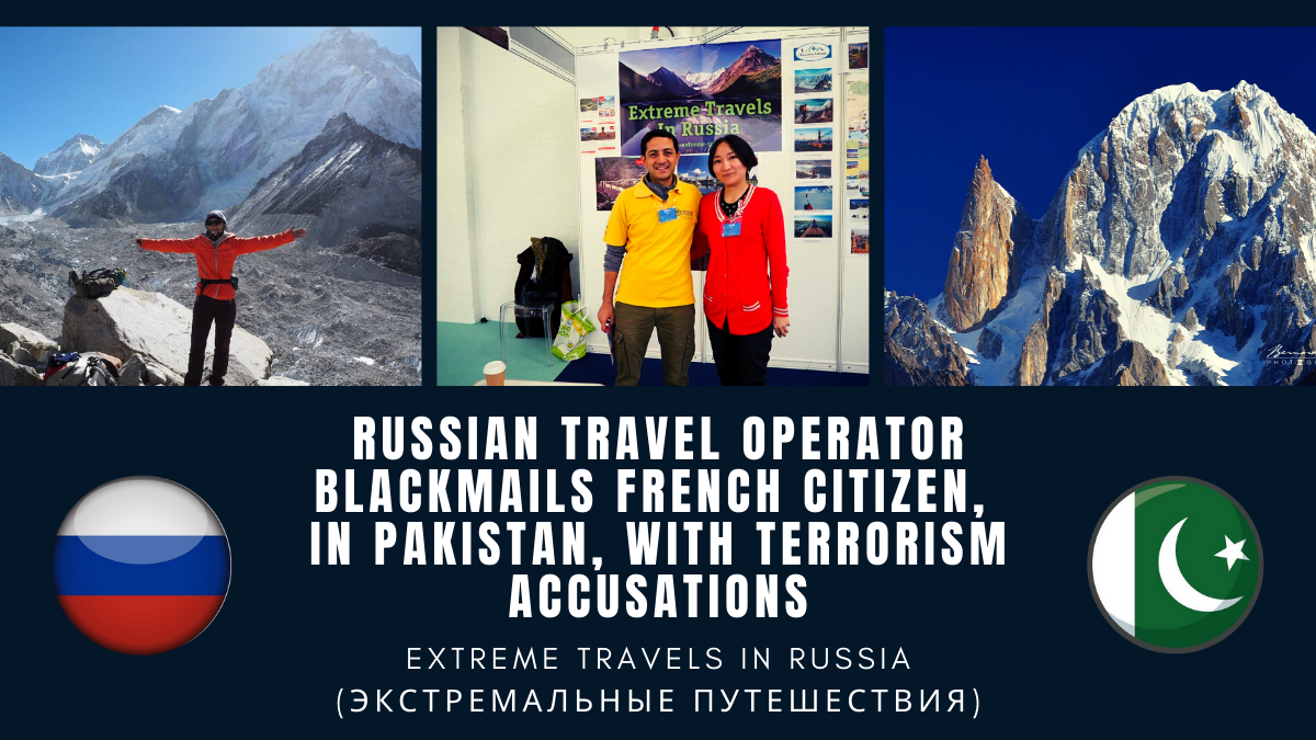 "Olga Leonidovna Ozerova, aka Olga Sim (Ольга Сим), from ""Extreme Travels in Russia"" (Экстремальные путешествия) is involved, in Pakistan, in an insane stalking plan. Discover her threat of hiring 10 agitators as false witnesses in order to file a terrorism case to Pakistani authorities against the French photographer and writer Bernard Grua. See how her ultimatum was slammed in an inflammatory manner. Read the debunking of her blatant lies. Understand how she is exposing at risk herself and her company."