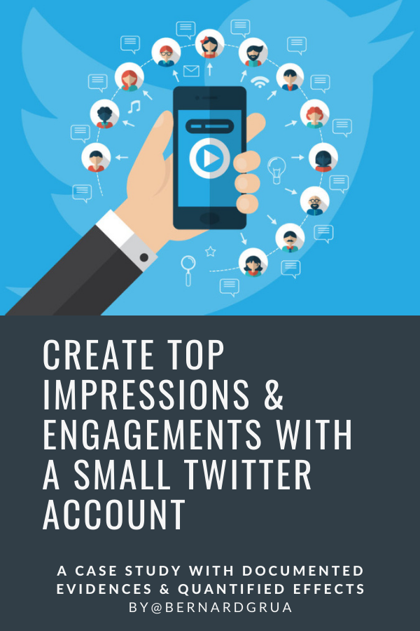 Even small Twitter accounts can reach top engagements and impressions if they focus on quality posts. Sharing original and interesting content, bringing expertise, supporting other users for a cause are rewarding. Visuals such as images and videos are appreciated by an audience. Taking relevant part into a conversation launched by an influencer and expert is good tool for reaching an audience. But, the must is to get your posts retweeted by influencers. It allows you to enjoy their followers and their engagements. Pin