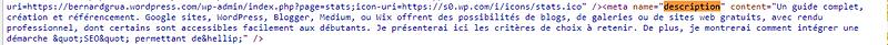 Description HTML de l'article.