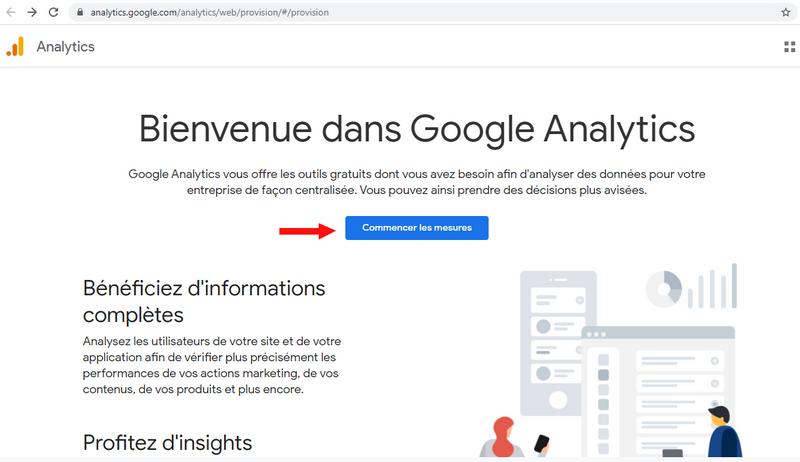 Entrée dans Google Analytics