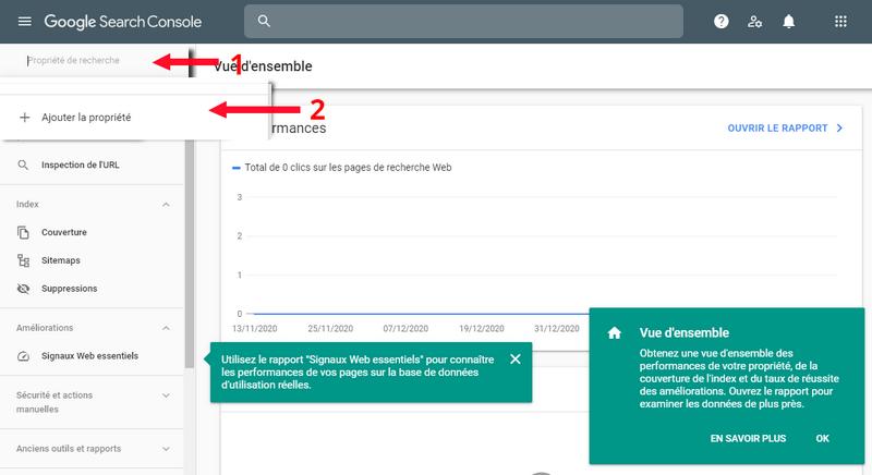 Ajoutez votre site dans Google Search Console