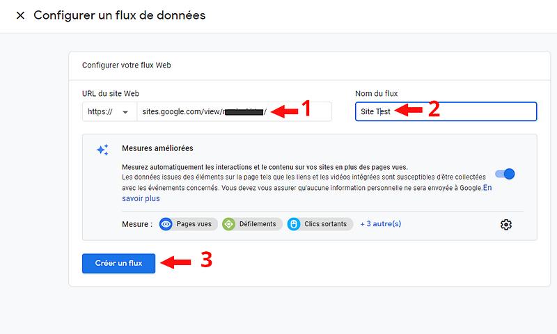 Déclaration de votre site à Google Analytics