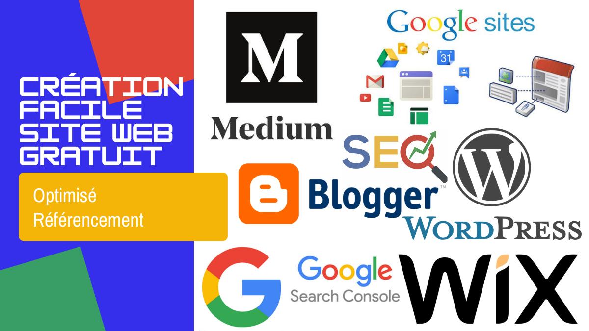 Création facile d'un site web gratuit optimisé référencement SEO.