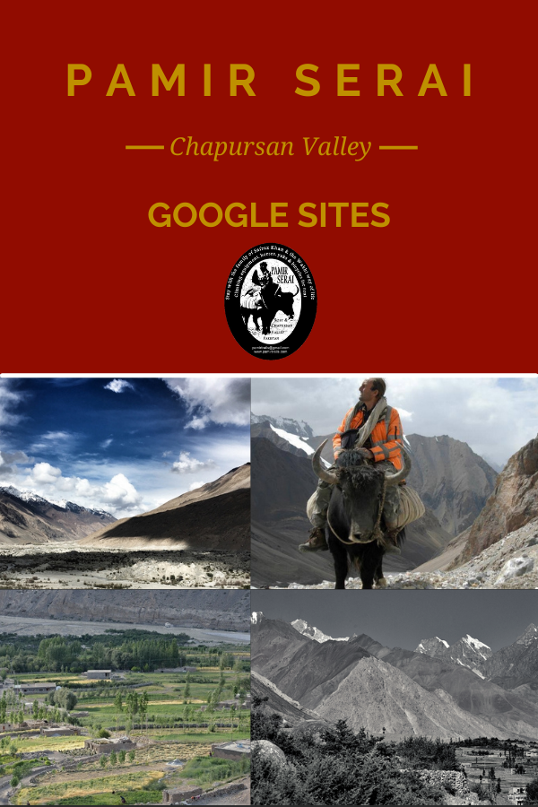 "Pamir Serai from Chapursan Valley is on ""Google Sites"". Actually, it should better be called ""Google pages"" due to the basic options offered, despite some recent improvement of this media. This is not a supplement to Pamir Serai guest house regular website or even to its light version for fast upload. This is just an opportunity for enforcing the Pamir Serai's numerical visibility and for testing its SEO potential, especially on Google search engine. The presentation, made here, is intended to offer powerful backlinks to these new pages."