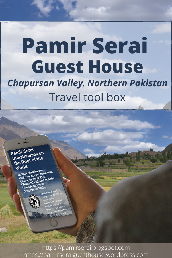 Pamir Serai, Chapursan Valley Travel box
