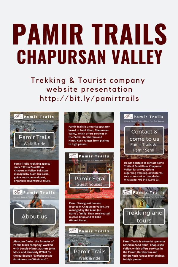 Pamir Trails, trekking agency in Chapursan Valley, Pakistan