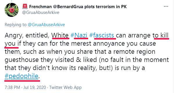"Ramla Akhtar: ""Blanc, Nazi, Fasciste, assassinat, pédophile"""