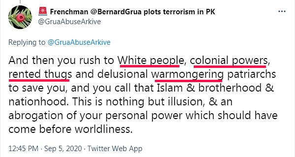 """Ramla Akhtar: """"peuple blanc, pouvoir colonial, voyoux loués, bellicisme"""""""