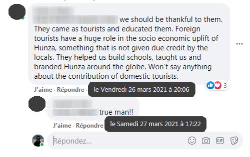 Ramla Akhtar: Commentaires sur la page Facebook d'un journaliste wakhi
