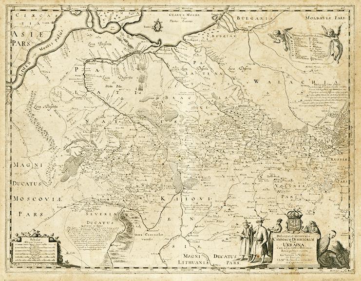 Carte de l'Ukraine par Guillaume Le Vasseur de Beauplan